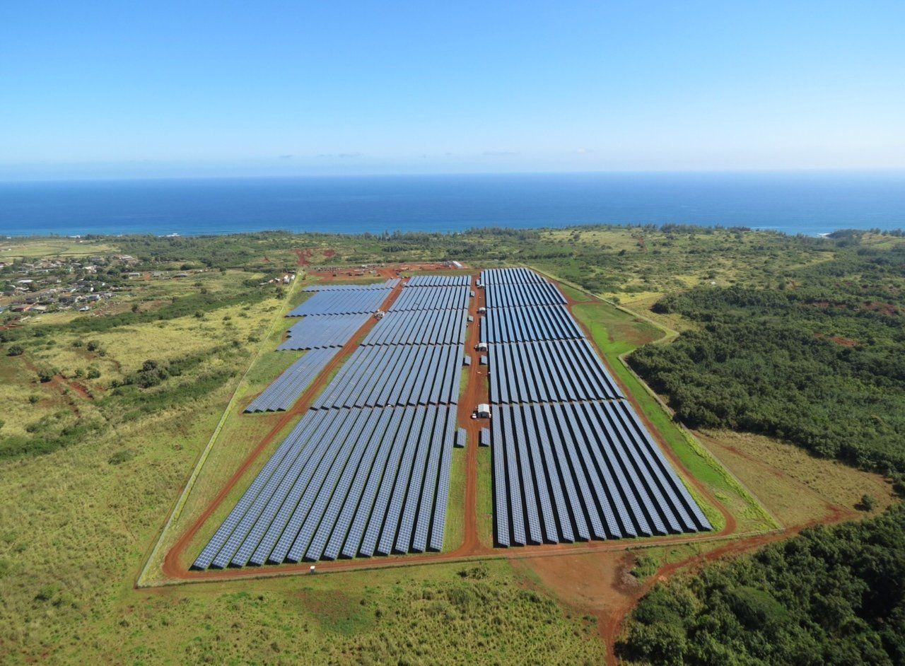 During daylight hours, about 20 percent of the Hawaiian Island of Kauai' electricity will come from the Anahola project.