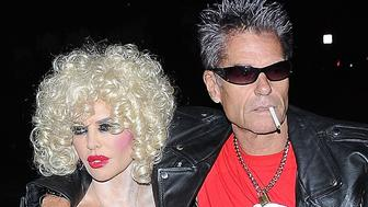LOS ANGELES, CA - OCTOBER 30: Lisa Rinna and Harry Hamlin are seen out and about in costume at CasAmigos Tequila Halloween Party on October 30, 2015 in Los Angeles, California.  (Photo by HEV/BuzzFoto via Getty Images)