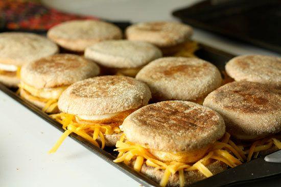 "<strong>Get the <a href=""http://www.macheesmo.com/2010/03/breakfast-sandwiches/"" target=""_blank"">Homemade Egg McMuffins recip"