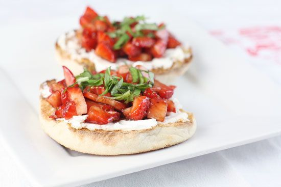 """<strong>Get the <a href=""""http://www.macheesmo.com/2011/03/that-strawberry-thing/"""">Strawberry Basil Snacks recipe </a>from Mac"""