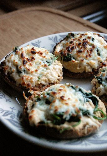 """<strong>Get the <a href=""""http://www.neverhomemaker.com/2010/05/hummus-melts.html"""">Hummus Melts recipe </a>from (Never)Homemak"""