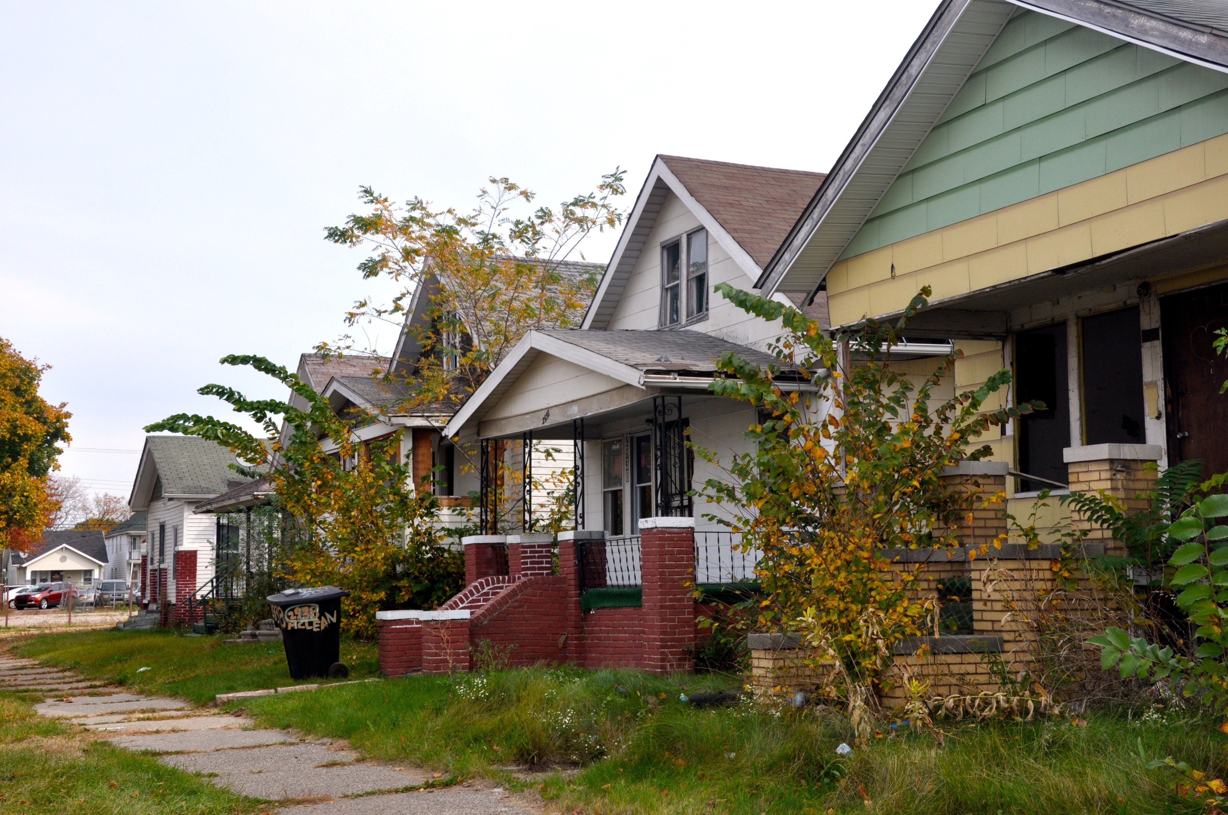 Jonathan Spikes, who unsuccessfully bid on the home he rents in Detroit, says there are more vacant homes on his block than o