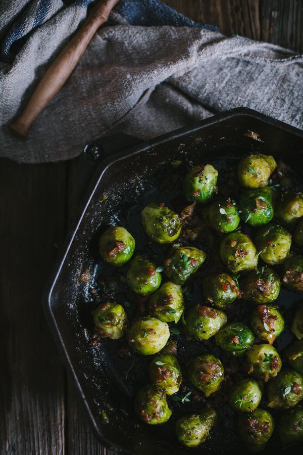 "<strong>Get the<a href=""http://www.adventures-in-cooking.com/2015/07/sauteed-sherry-brussels-sprouts.html"" target=""_blank""> S"