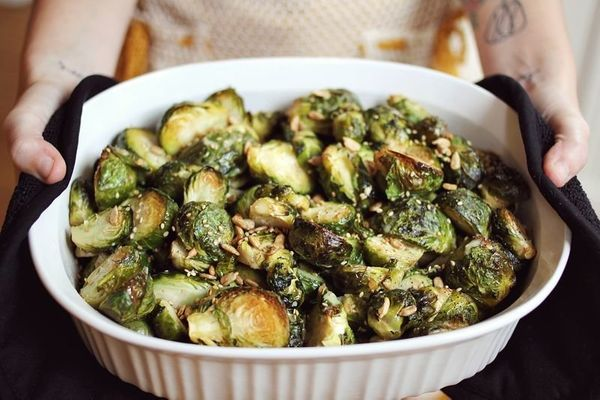 "<strong>Get the <a href=""http://www.abeautifulmess.com/2012/11/mustard-brussels.html"" target=""_blank"">Mustard Brussels Sprout"