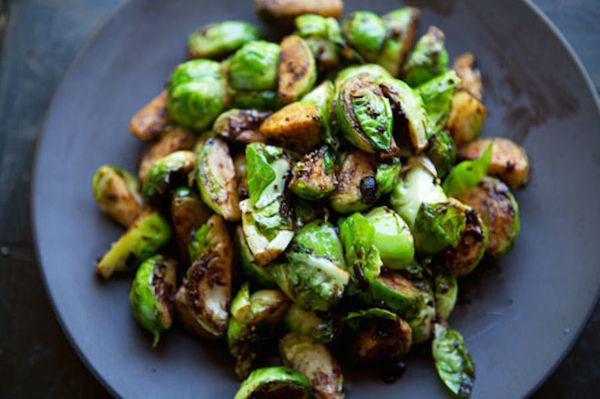 "<strong>Get the <a href=""http://www.simplyrecipes.com/recipes/brussels_sprouts_with_black_bean_garlic_sauce/"" target=""_blank"""