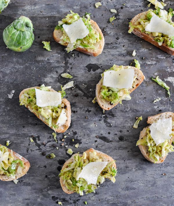 "<strong>Get the <a href=""http://www.howsweeteats.com/2012/11/brussels-sprouts-crostini/"" target=""_blank"">Brussels Sprouts Cro"