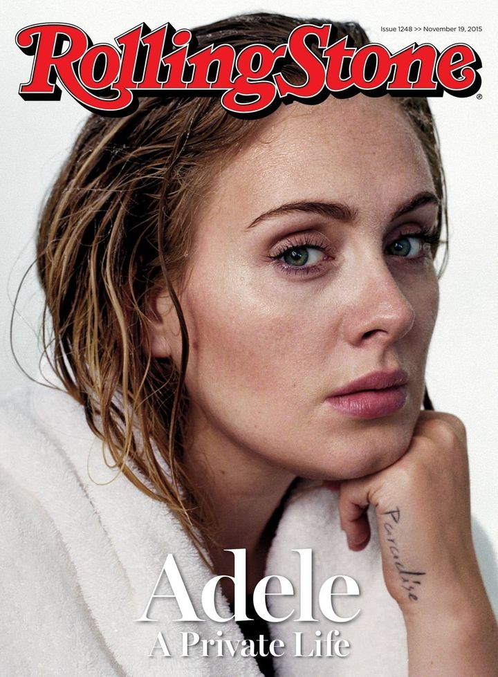 Breakdown: Emotional Adele, who broke down in tears as she accepted her  third of