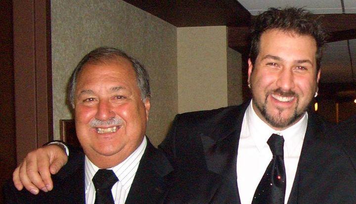 Joey Fatone and his father, Joseph Fatone, Sr.