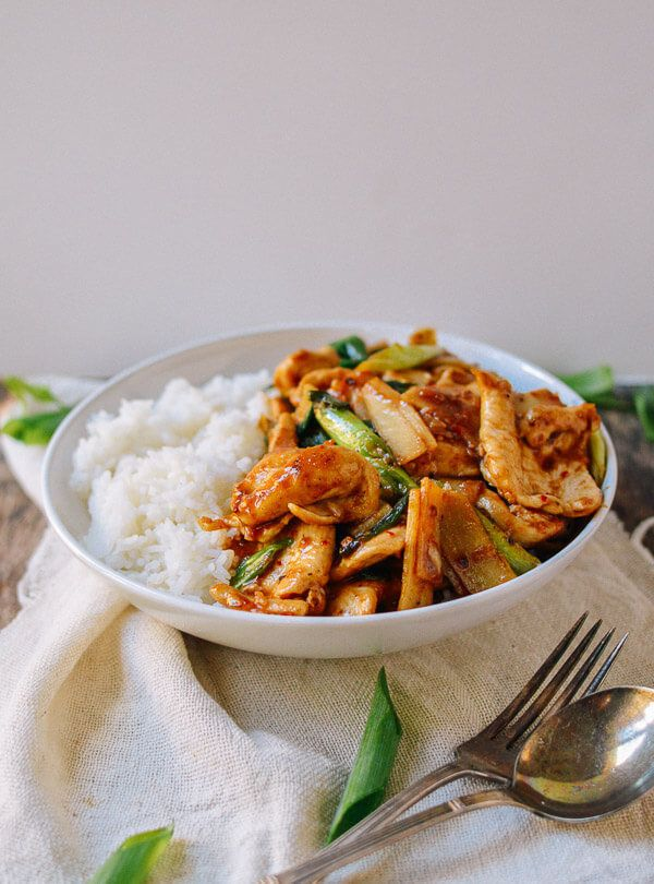 "<strong>Get the <a href=""http://thewoksoflife.com/2015/10/spicy-chicken-stir-fry/"">Spicy Chicken Stir Fry recipe</a> fro"
