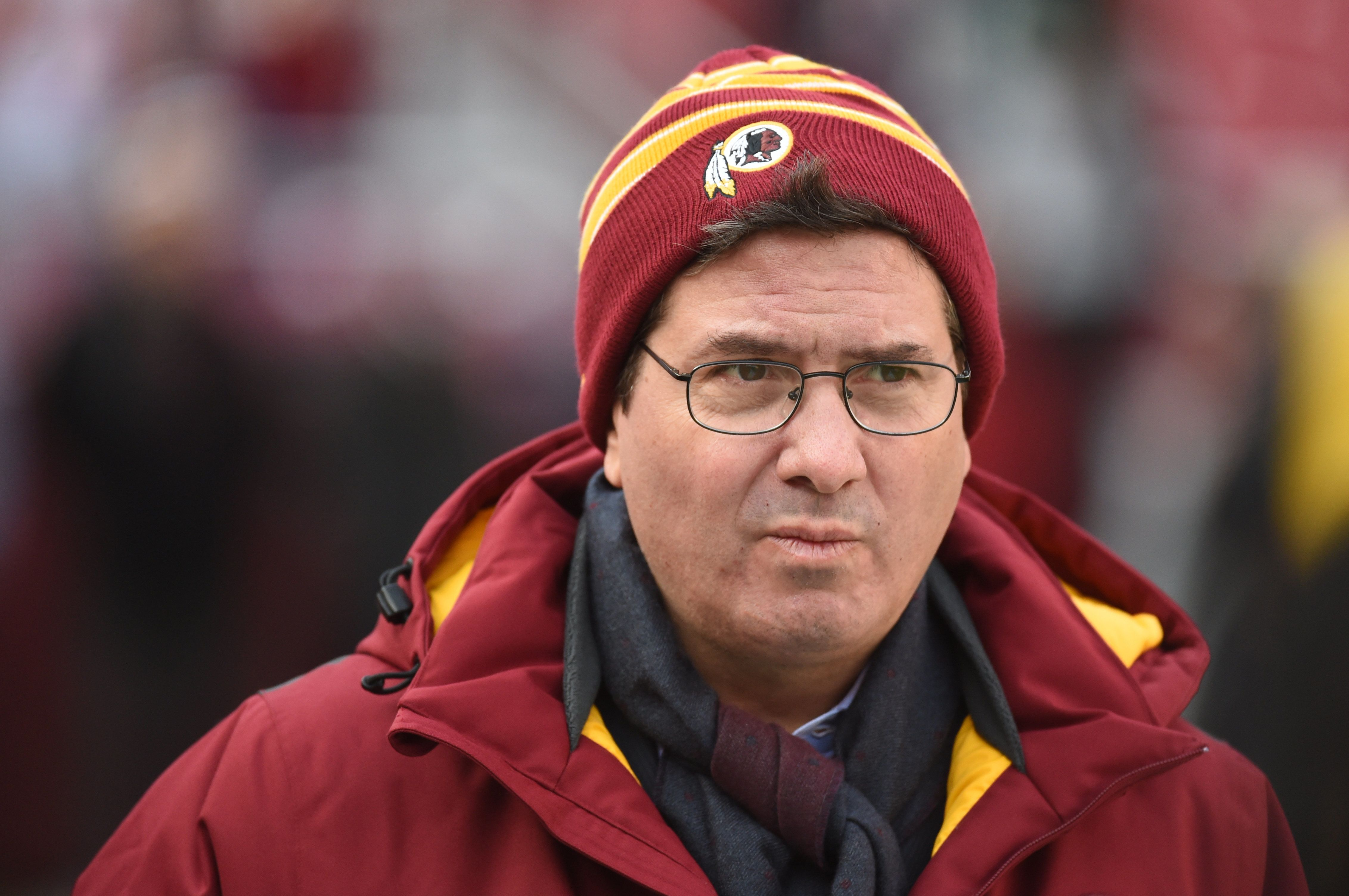 LANDOVER, MD - DECEMBER, 20:  Washington Redskins owner Dan Snyder walks the field prior to action against the Philadelphia Eagles on December 20, 2014 in Landover, MD. (Photo by Jonathan Newton / The Washington Post via Getty Images)