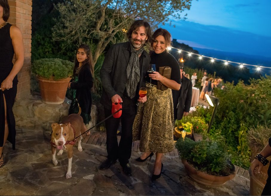 Rachael Ray and her husband John Cusimano renew their wedding vows in Tuscany.