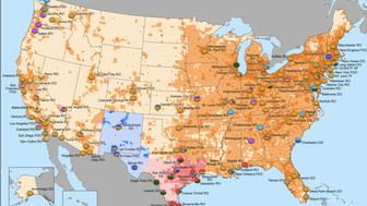 "A map shows the extend of drug lord Joaquín ""El Chapo"" Guzmán's influence in the United States."