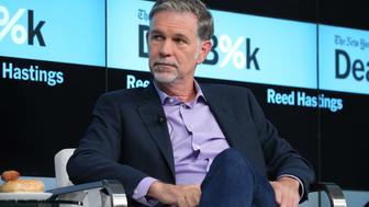 NEW YORK, NY - NOVEMBER 03:  Co-founder and CEO of Netflix, Reed Hastings participates in a panel discussion at the New York Times 2015 DealBook Conference at the Whitney Museum of American Art on November 3, 2015 in New York City.  (Photo by Neilson Barnard/Getty Images for New York Times)