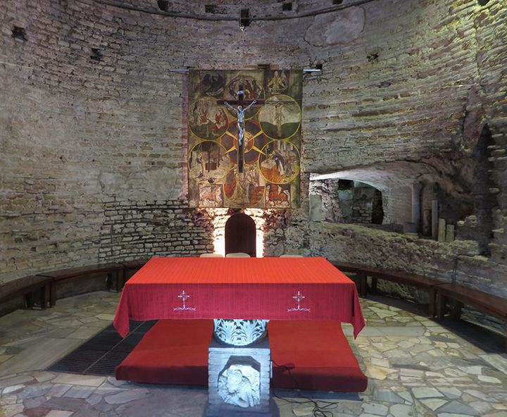 Basilica of Sts. Nereus and Achilleus, an underground altar where the Catacombs Pact was signed at a Mass on Nov. 16, 1965.