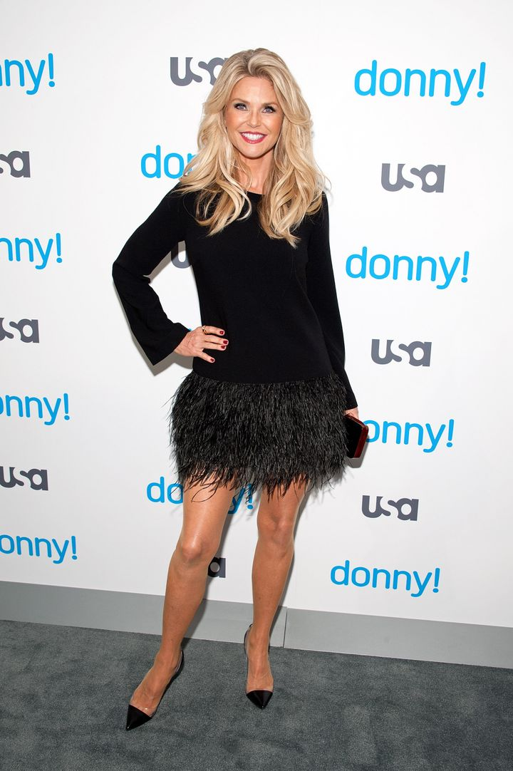 Ageless Christie Brinkley Stuns In A Thigh Skimming Mini Dress
