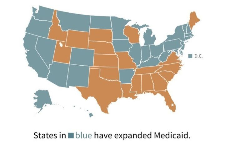 Kentucky is one of 30 states, along with the District of Columbia, that expanded eligibility for Medicaid benefits to more lo