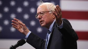 FAIRFAX, VA - OCTOBER 28:  Democratic presidential candidate and U.S. Sen. Bernie Sanders (I-VT) speaks during a 'National Student Town Hall' at George Mason University October 28, 2015 in Fairfax, Virginia. Sen. Sanders continued to campaign for the Democratic nomination.  (Photo by Alex Wong/Getty Images)