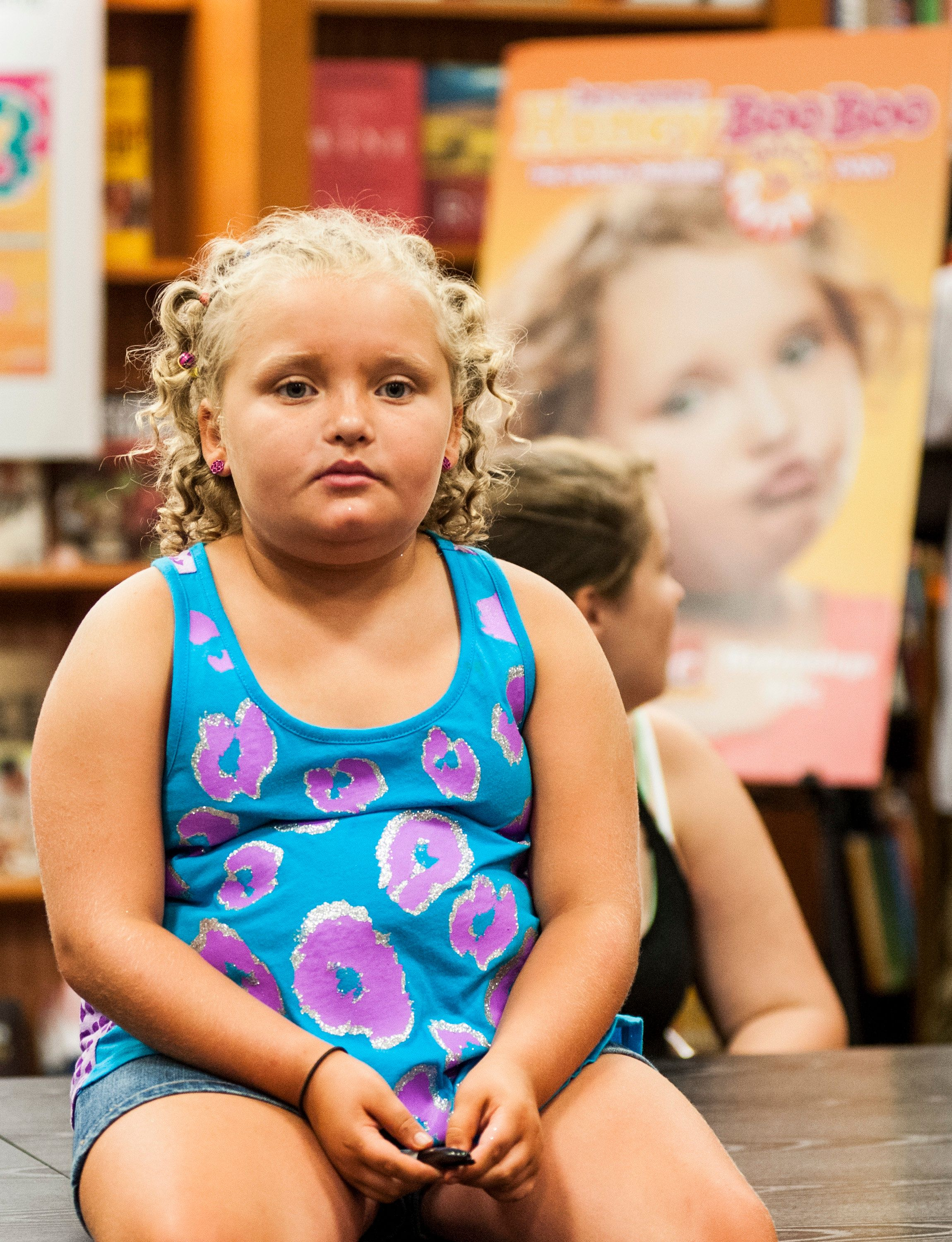 MCLEAN, VA-  July 11: Alana 'Honey Boo Boo' Thompson attends the 'How to Honey Boo Boo: The Complete Guide' Book Event at the Barnes and Nobles on July 11, 2013 in Mclean, Virginia.  (Photo by Kris Connor/Getty Images)