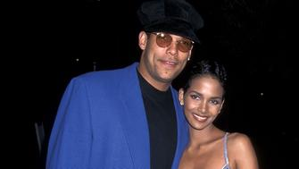 Athlete David Justice and actress Halle Berry attend the 'Losing Isaiah' Hollywood Premiere on March 15, 1995 at Paramount Studios in Hollywood, California. (Photo by Ron Galella, Ltd./WireImage)