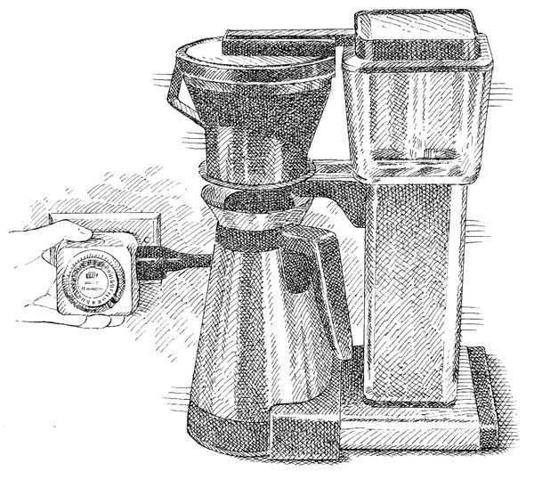 """""""Wake up to a fresh pot of coffee even if your coffee maker lacks a built-in timer,"""" the editors of America's Test Kitchen wr"""
