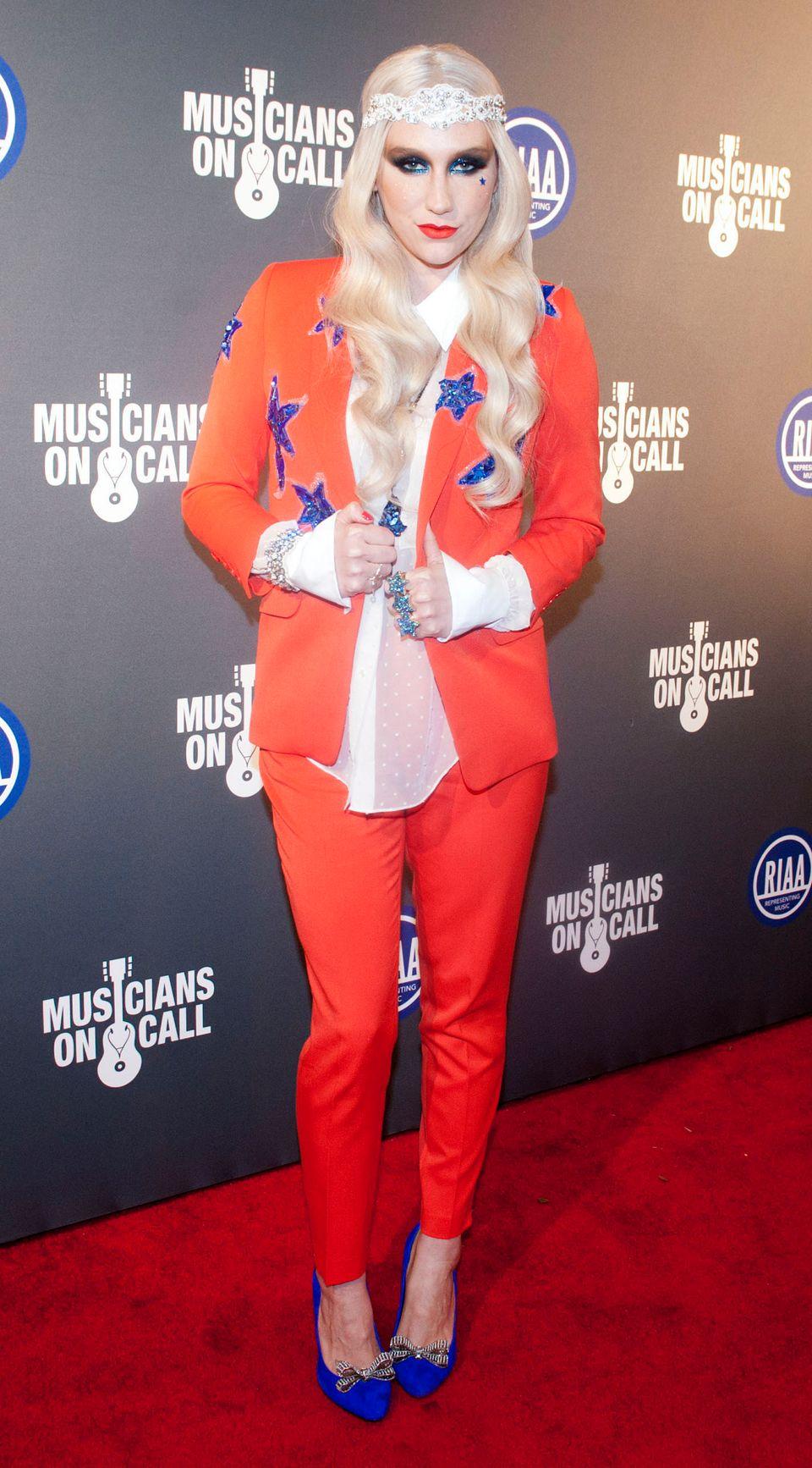 WASHINGTON, DC - JANUARY 21: Ke$ha attends the RIAA Presidential Inaugural Charity Benefit at the 9:30 Club on January 21, 20