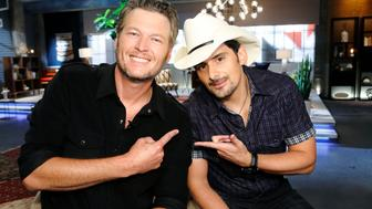 THE VOICE -- 'Team Blake Battle Reality' -- Pictured: (l-r) Blake Shelton, Brad Paisley -- (Photo by: Trae Patton/NBC/NBCU Photo Bank via Getty Images)