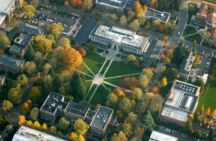 Aerial shot of Oregon State University's campus.