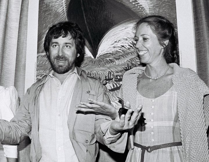 Steven Spielberg and Melissa Mathison at the 35th Cannes Film Festival.