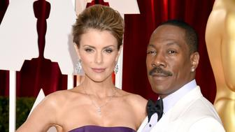 HOLLYWOOD, CA - FEBRUARY 22: Eddie Murphy and Paige Butcher attends the 87th Annual Academy Awards at Hollywood & Highland Center on February 22, 2015 in Hollywood, California. (Photo by Jeff Kravitz/FilmMagic)