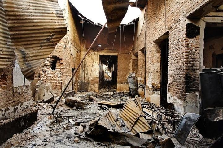 The interior of the MSF hospital in Kunduz a few days after the attack.
