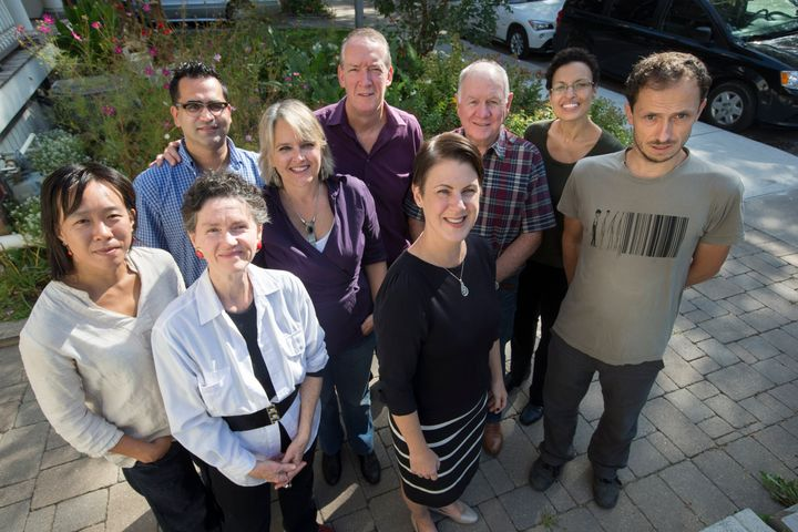 TORONTO, ON - SEPTEMBER 23 - A group called Ripple Refugee Project are sponsoring Syrian refugees privately. L to R are: Wend