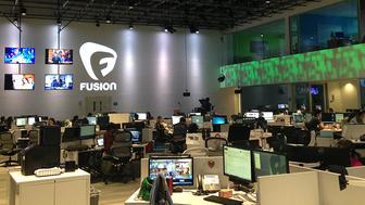 Fusion's newsroom in Miami, Florida.