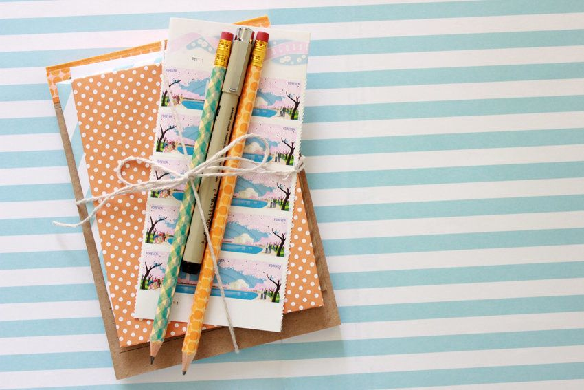 http://www.deliacreates.com/orange-diy-stationary-snail-mail/