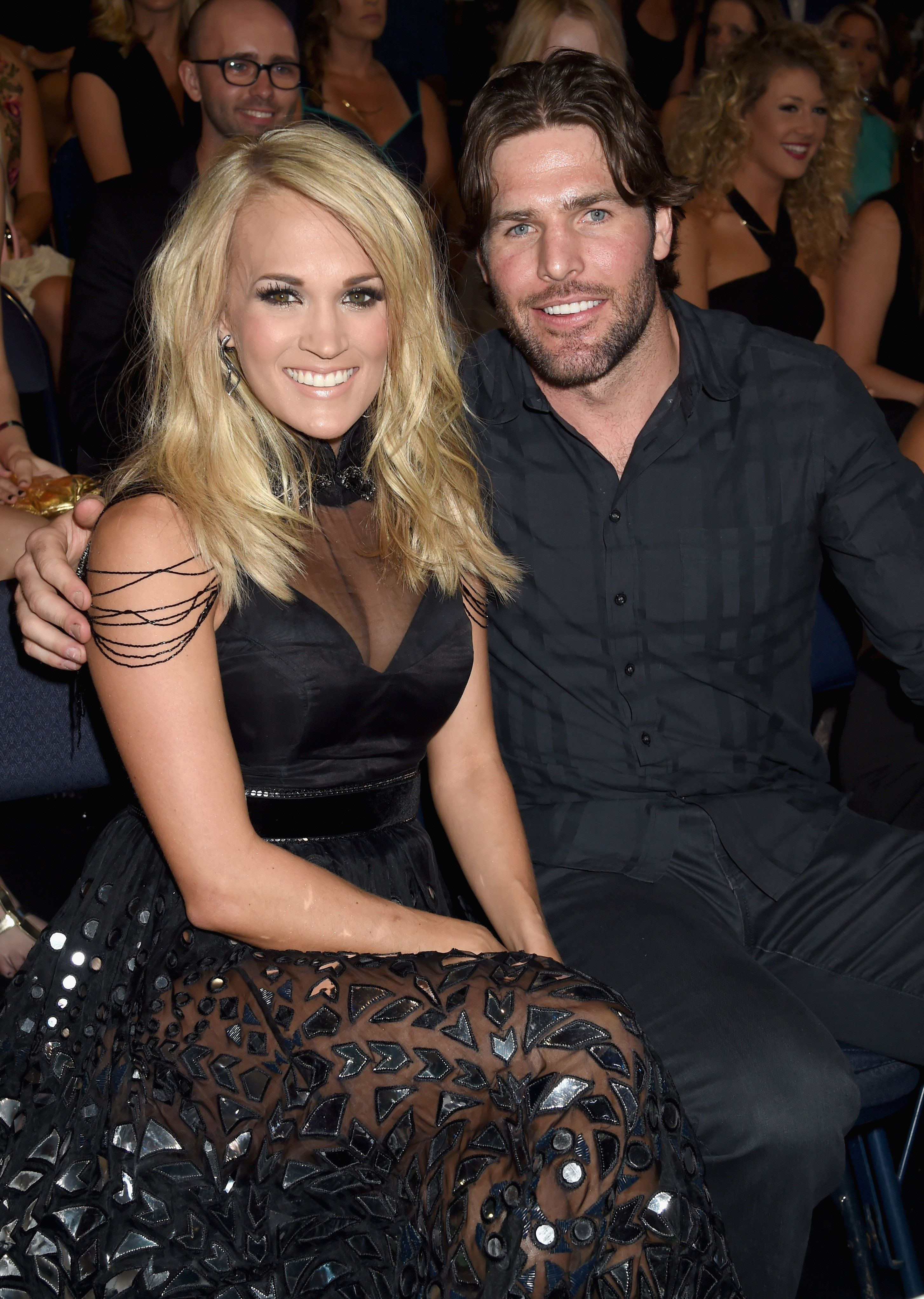 NASHVILLE, TN - JUNE 10:  Singer Carrie Underwood and NHL player Mike Fisher attends the 2015 CMT Music awards at the Bridgestone Arena on June 10, 2015 in Nashville, Tennessee.  (Photo by Jeff Kravitz/FilmMagic)