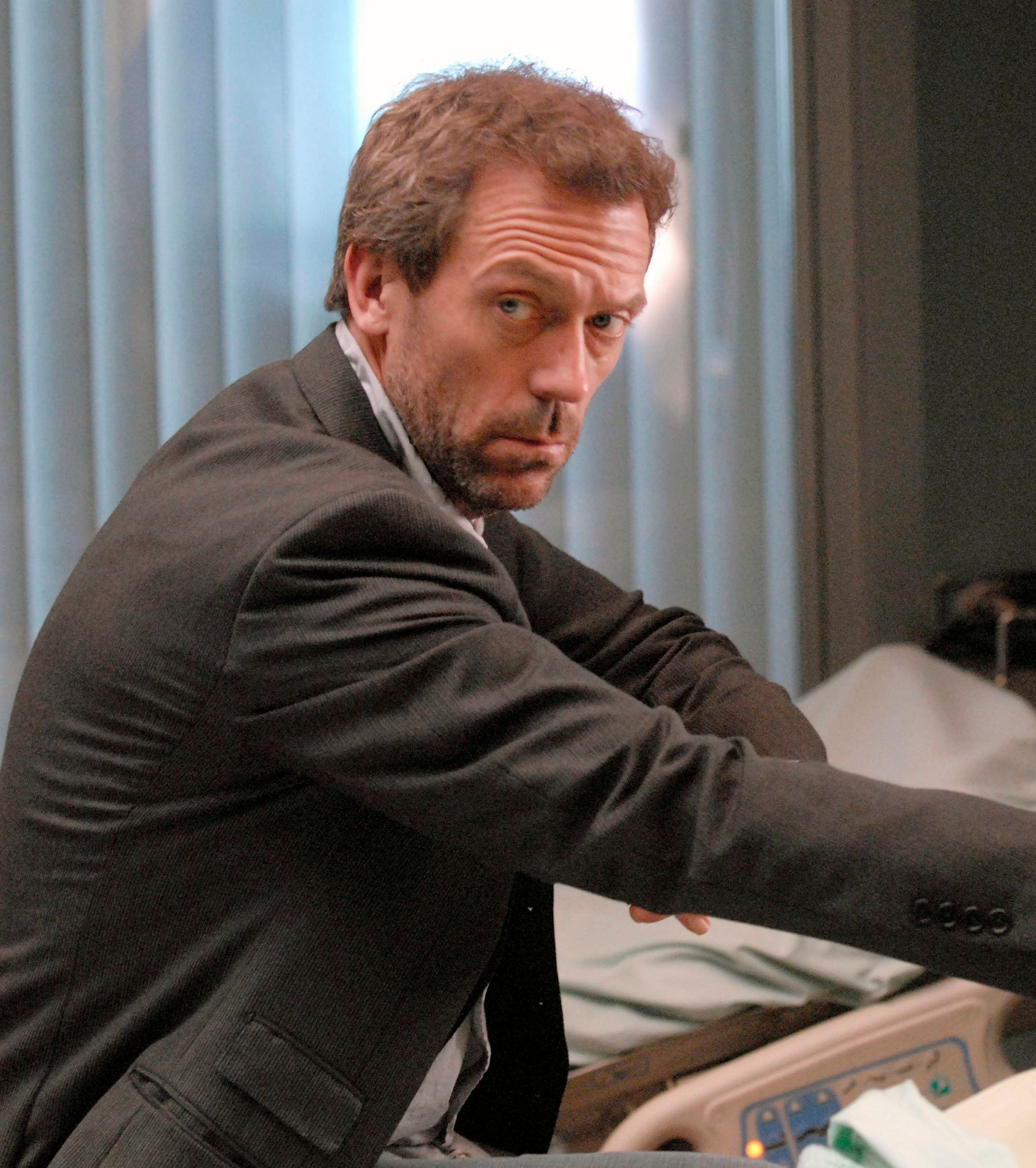 HOUSE -- 'Fetal Position' Episode 317 -- Pictured: Hugh Laurie as Dr. Gregory House -- (Photo by: Michael Yarish/NBC/NBCU Photo Bank via Getty Images)