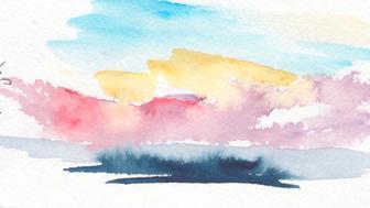 Sunrise Over Atlantic, watercolor