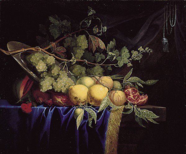 Still Life, 17th century, Paul Liegeois. Oil on canvas, 29 x 38 3/8 in. Norton Simon Art Foundation, M.1979.49.P.