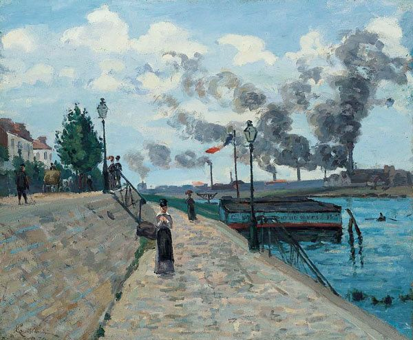 The Seine at Charenton, 1874, Jean-Baptiste Armand Guillaumin. Oil on canvas, 21 1/4 x 25 3/8 in. Norton Simon Art Foundation
