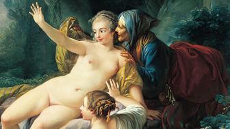 Jupiter and Semele, about 1760, Jean-Baptiste Deshays de Colleville. Oil on canvas, 62 3/4 x 66 3/8 in. The Norton Simon Foundation, F.1970.04.P.