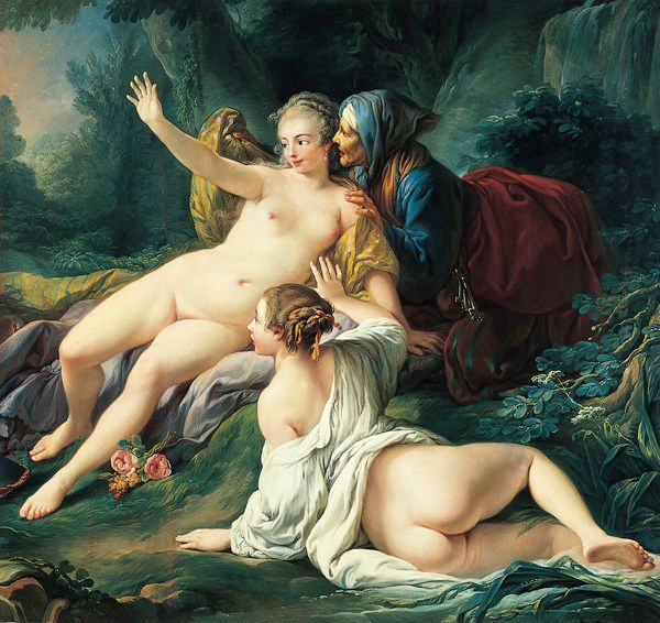 Jupiter and Semele, about 1760, Jean-Baptiste Deshays de Colleville. Oil on canvas, 62 3/4 x 66 3/8 in. The Norton Simon Foun