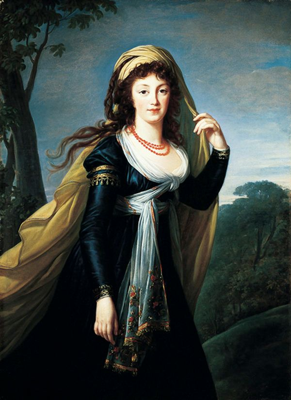 Portrait of Theresa, Countess Kinsky, 1793, Marie-Louise-Elisabeth Vigée-Lebrun. Oil on canvas, 54 1/8 x 39 3/8 in. No