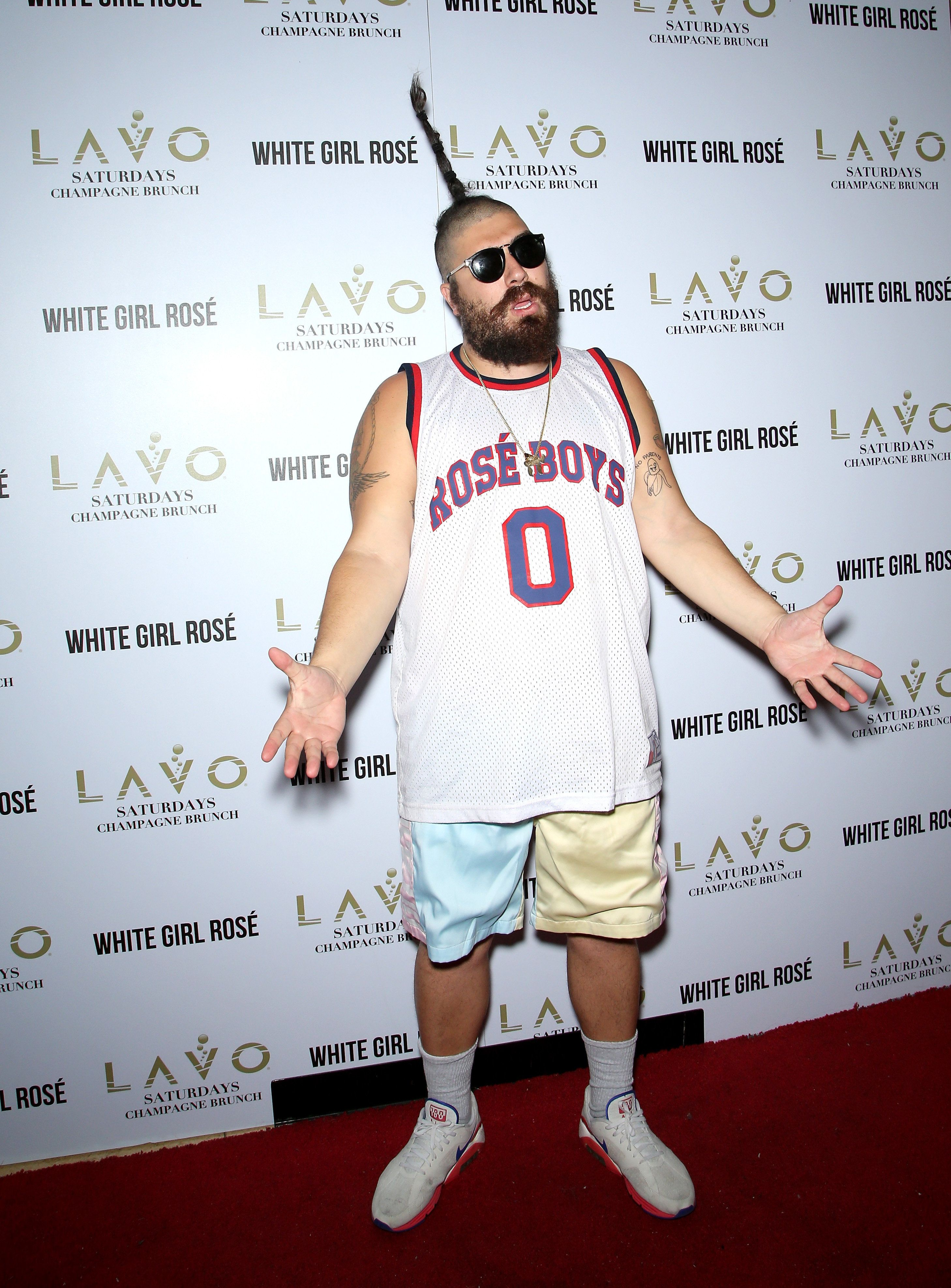 LAS VEGAS, NV - OCTOBER 31:  Entertainer Josh 'The Fat Jew' Ostrovsky attends a Halloween Champagne brunch at the Lavo Restaurant at The Palazzo Las Vegas on October 31, 2015 in Las Vegas, Nevada.  (Photo by Gabe Ginsberg/Getty Images)