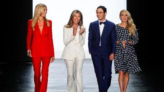 NEW YORK, NY - SEPTEMBER 11:  Heidi Klum, Nina Garcia, Zac Posen and Carrie Underwood greets the audience before presenting the Project Runway Season 14 fashion show at The Arc, Skylight at Moynihan Station on September 11, 2015 in New York City.  (Photo by Thomas Concordia/WireImage)
