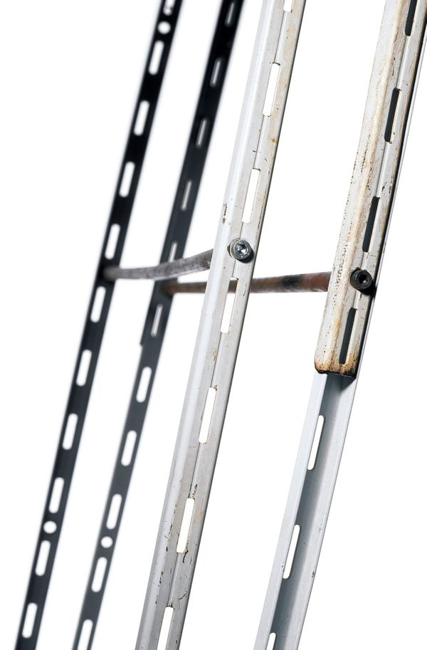 Ladder made of steel rails from bookshelves. On October 10, 1994, inmates Gerhard Polak and Raimund Albert used this ladder d