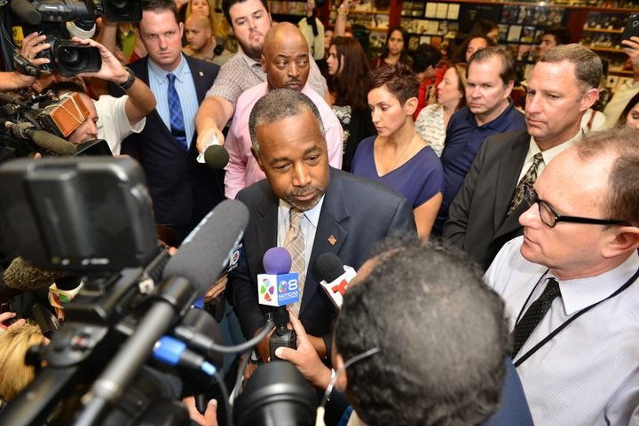 Republican presidential candidate Dr. Ben Carson has slammed the media for vetting his stories of youth violence.