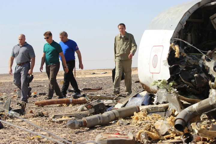"British and U.S. spies intercepted ""chatter"" from suspected militants that a bomb downed a Russian airliner on Saturday,"