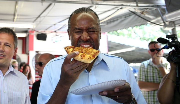 GOP presidential candidate Ben Carson is the only openly vegetarian candidate in the race.