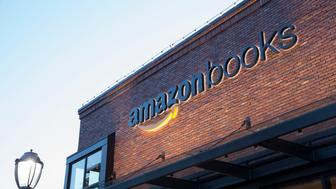 SEATTLE, WA - NOVEMBER 4: The newly-opened Amazon Books store is pictured on November 4, 2015 in Seattle, Washington. The online retailer opened its first brick-and-mortar book store on November 3, 2015. (Photo by Stephen Brashear/Getty Images)