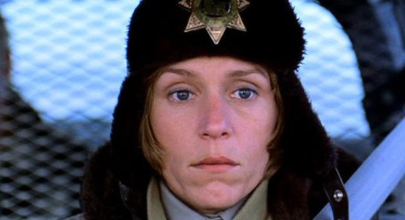 "Frances McDormand stars in the Coen brothers' neo-noir black comedy ""Fargo,"" for which Carter Burwell provided the a chilling"