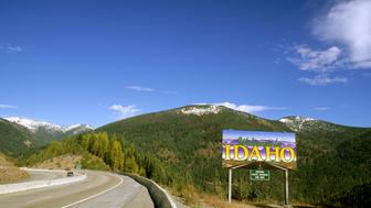 Idaho. Welcome To Idaho Sign